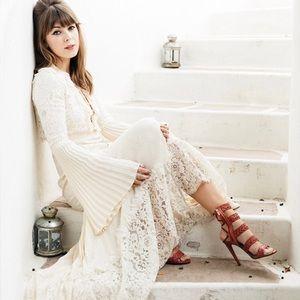 ♥️ NWT Rachel Zoe Annie Lace-Up Maxi Wedding Dress